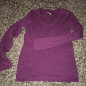 Eddie Bauer long sleeve purple tee size S